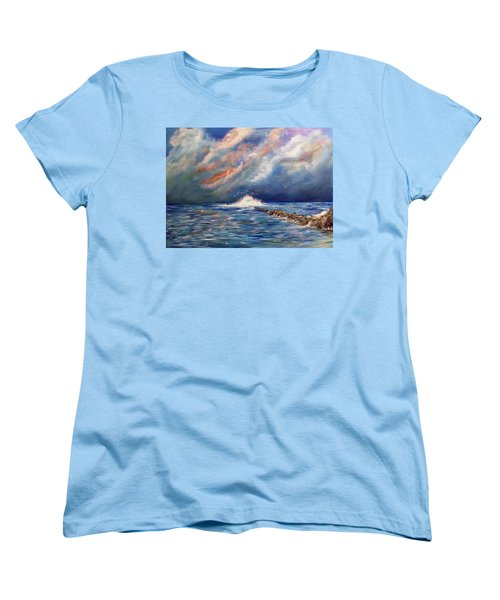 Storm Over The Ocean Women's T-Shirt (Standard Cut) by Dorothy Maier
