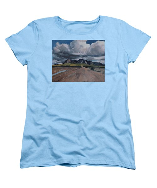 Storm Over The Superstitions Women's T-Shirt (Standard Cut) by Barbara Barber