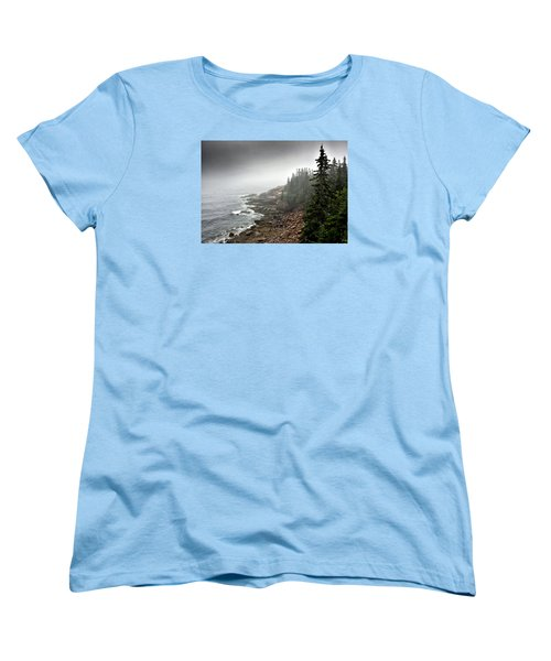 Stormy North Atlantic Coast - Acadia National Park - Maine Women's T-Shirt (Standard Cut) by Brendan Reals
