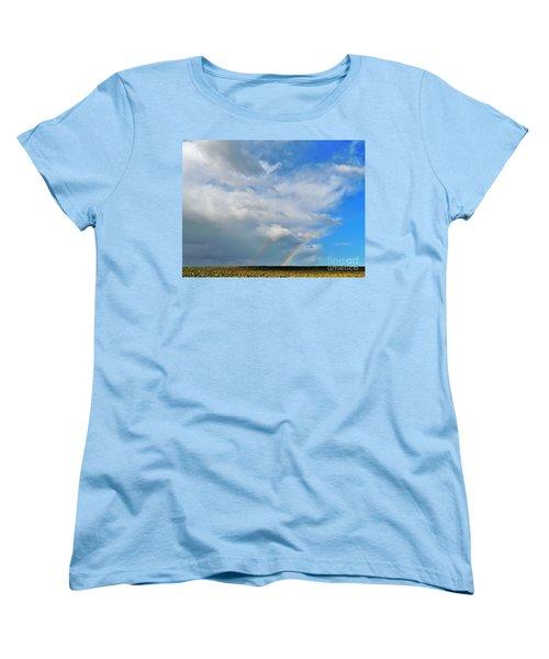 Thunder Storm Rainbow Women's T-Shirt (Standard Cut) by Michele Penner