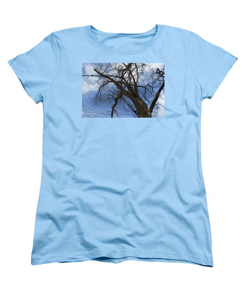 Stormy Sky Blue Women's T-Shirt (Standard Cut) by Renie Rutten
