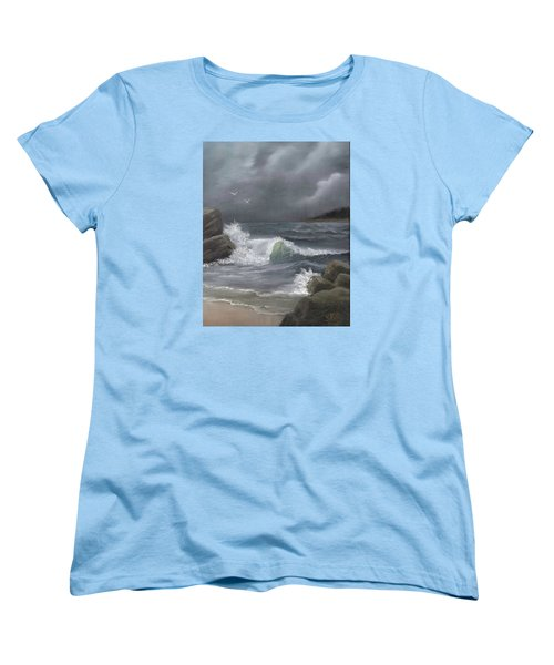 Women's T-Shirt (Standard Cut) featuring the painting Stormy Waters by Sheri Keith