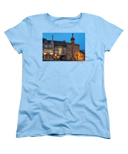 Women's T-Shirt (Standard Cut) featuring the photograph Stow On The Wold - Twilight by Brian Jannsen