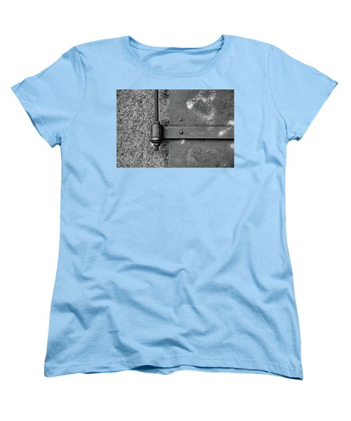 Women's T-Shirt (Standard Cut) featuring the photograph Straight Metal by Karol Livote