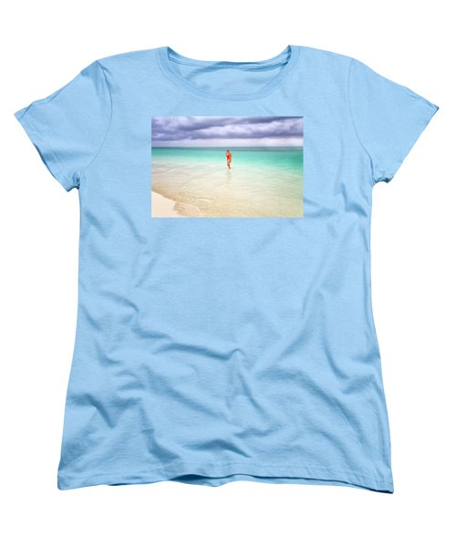 Stranded Women's T-Shirt (Standard Cut) by Nicki Frates