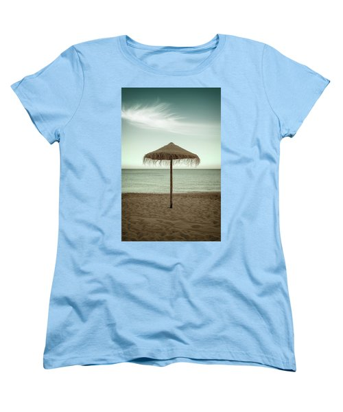 Women's T-Shirt (Standard Cut) featuring the photograph Straw Shader by Carlos Caetano