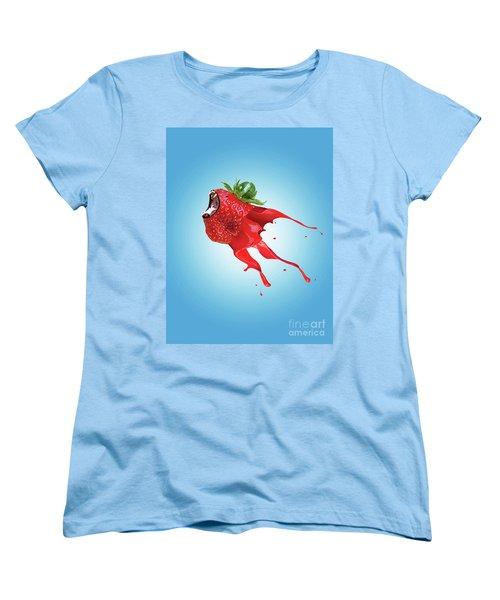 Women's T-Shirt (Standard Cut) featuring the photograph Strawberry by Juli Scalzi