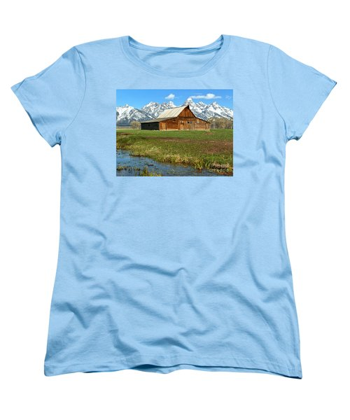 Streaming By The Moulton Barn Women's T-Shirt (Standard Cut) by Adam Jewell