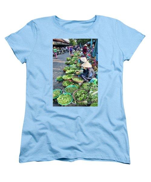 Street Market Hoi An Women's T-Shirt (Standard Cut) by Chuck Kuhn