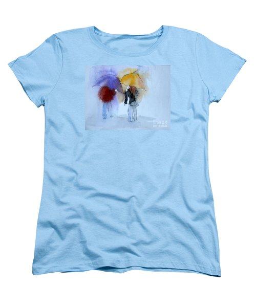 Strolling In The Rain Women's T-Shirt (Standard Cut) by Vicki  Housel
