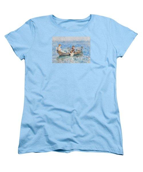 Study For August Blue Women's T-Shirt (Standard Cut)