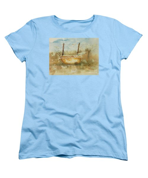 Study Of A Watering Tub Women's T-Shirt (Standard Cut) by Vicki  Housel