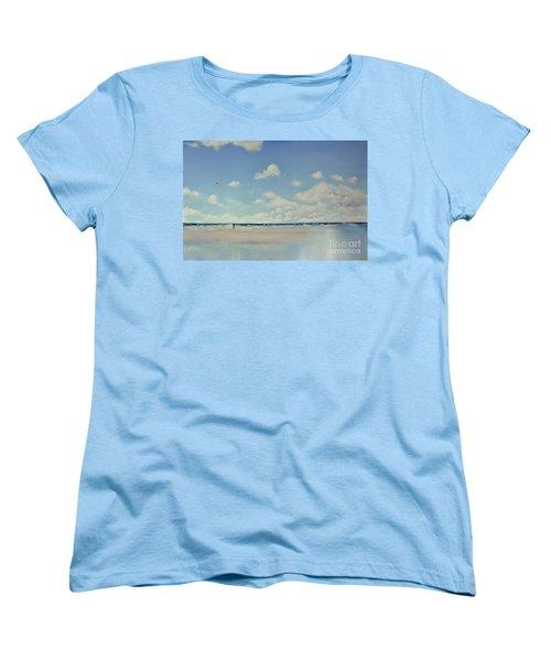 Women's T-Shirt (Standard Cut) featuring the painting Study Of Blue Nr 1 by Maja Sokolowska