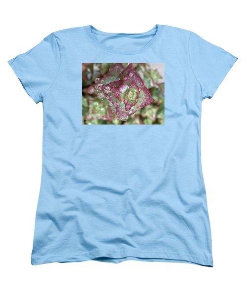 Succulent Abstract Women's T-Shirt (Standard Cut) by Russell Keating