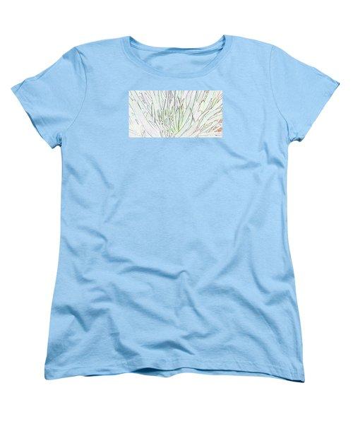 Succulent Leaves In High Key Women's T-Shirt (Standard Cut) by Nareeta Martin