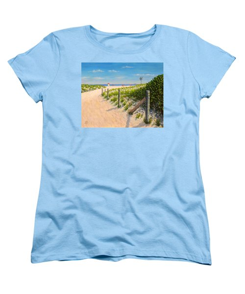 Women's T-Shirt (Standard Cut) featuring the painting Summer 12-28-13 by Joe Bergholm