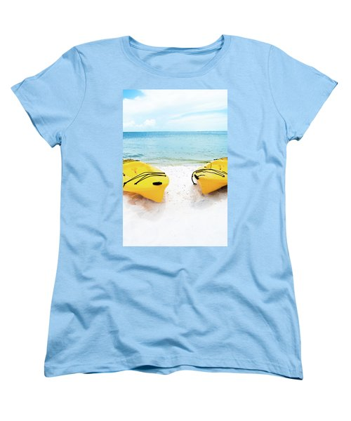Women's T-Shirt (Standard Cut) featuring the photograph Summer Colors On The Beach by Shelby Young