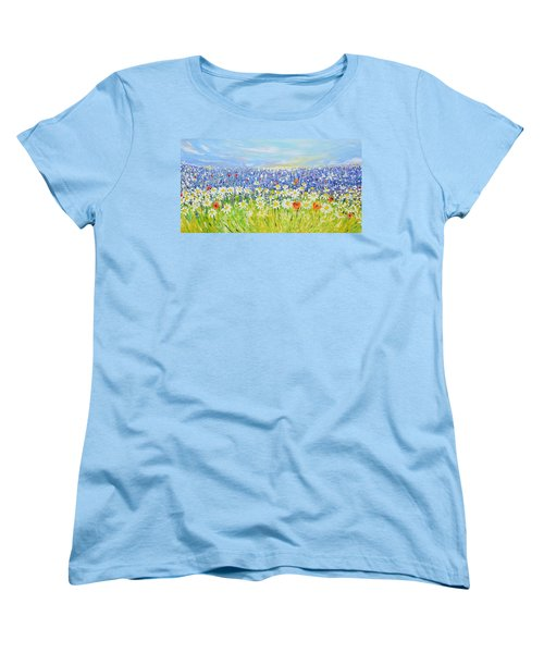 Summer Field Women's T-Shirt (Standard Cut) by Evelina Popilian