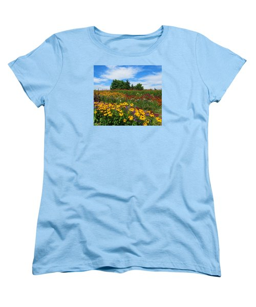 Summer Flowers In Pa Women's T-Shirt (Standard Cut) by Jeanette Oberholtzer
