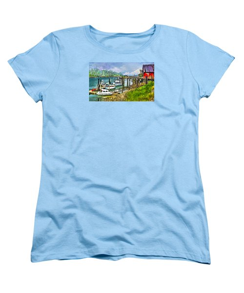 Women's T-Shirt (Standard Cut) featuring the digital art Summer In La'conner by Dale Stillman
