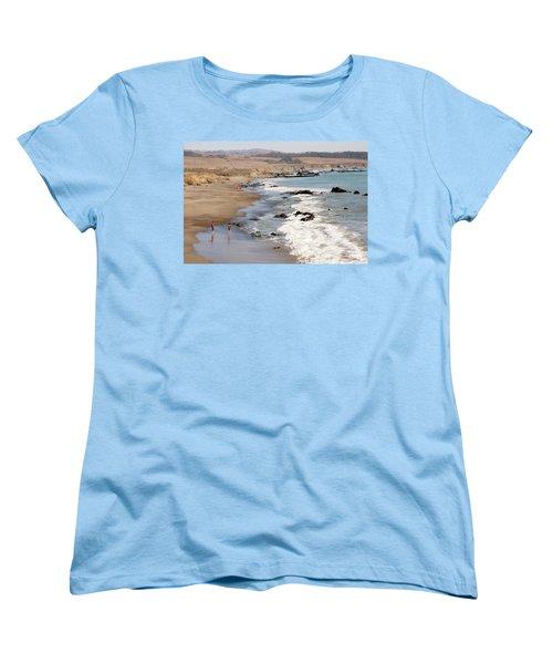 Women's T-Shirt (Standard Cut) featuring the photograph Summer In San Simeon by Art Block Collections