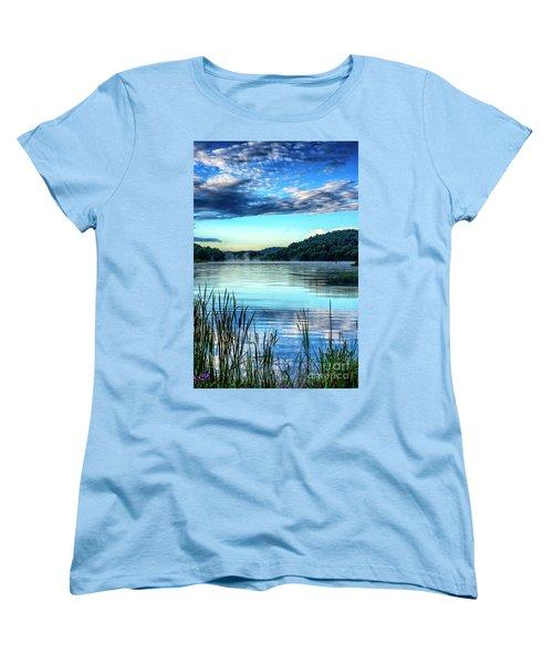Summer Morning On The Lake Women's T-Shirt (Standard Cut) by Thomas R Fletcher