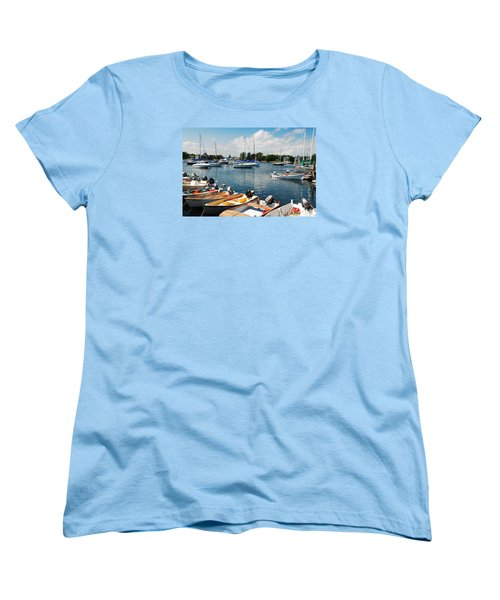 Women's T-Shirt (Standard Cut) featuring the photograph Summer On The Bay by James Kirkikis