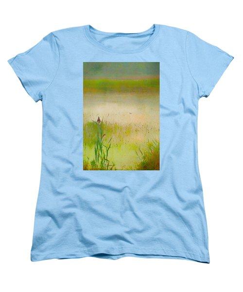 Summer Reeds Women's T-Shirt (Standard Cut) by Catherine Alfidi