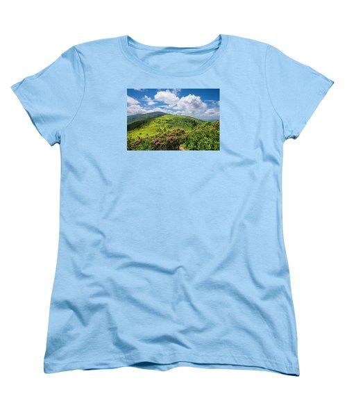 Summer Roan Mountain Bloom Women's T-Shirt (Standard Cut) by Serge Skiba