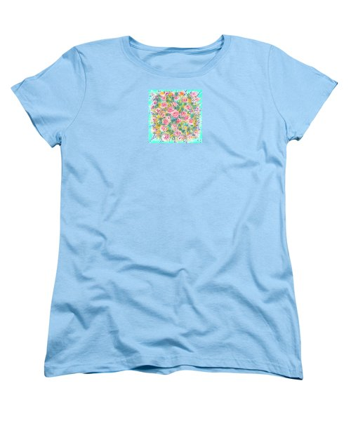 Women's T-Shirt (Standard Cut) featuring the painting Summer Scarf by Jean Pacheco Ravinski