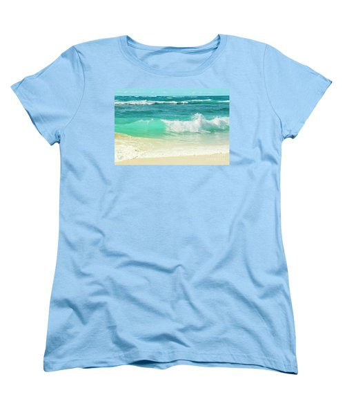 Women's T-Shirt (Standard Cut) featuring the photograph Summer Sea by Sharon Mau