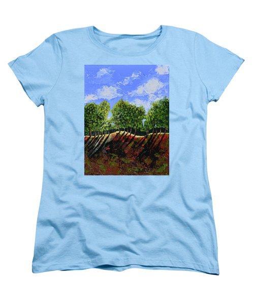 Summer Shadows Women's T-Shirt (Standard Cut) by Donna Blackhall