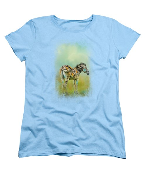 Summer Zebra 1 Women's T-Shirt (Standard Cut) by Jai Johnson