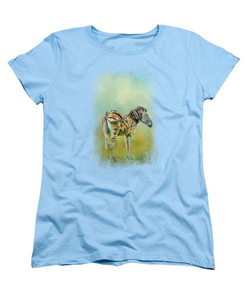 Summer Zebra 1 Women's T-Shirt (Standard Cut)