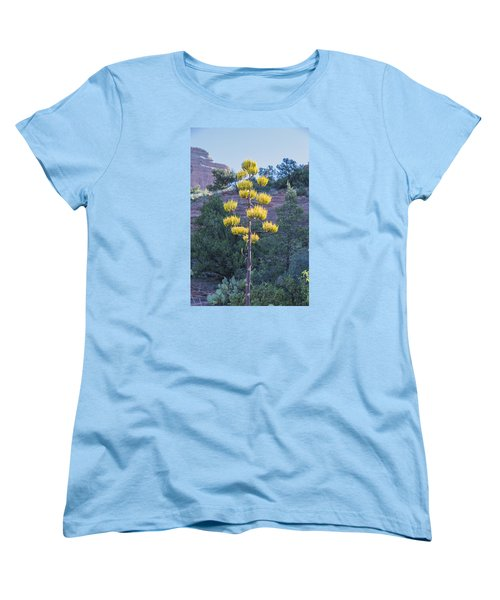 Sun Brightened Century Plant Women's T-Shirt (Standard Cut) by Laura Pratt
