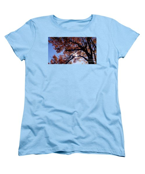 Sun Peaking Threw Women's T-Shirt (Standard Cut) by Debra Crank