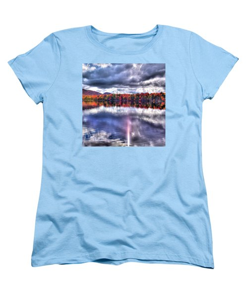 Women's T-Shirt (Standard Cut) featuring the photograph Sun Streaks On West Lake by David Patterson
