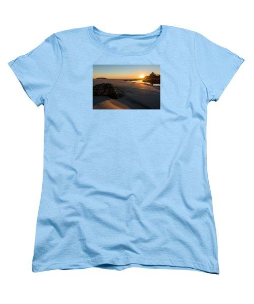 Sun Up Good Harbor Women's T-Shirt (Standard Cut) by Michael Hubley