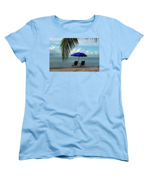 Sunday Morning At The Beach In Key West Women's T-Shirt (Standard Cut)