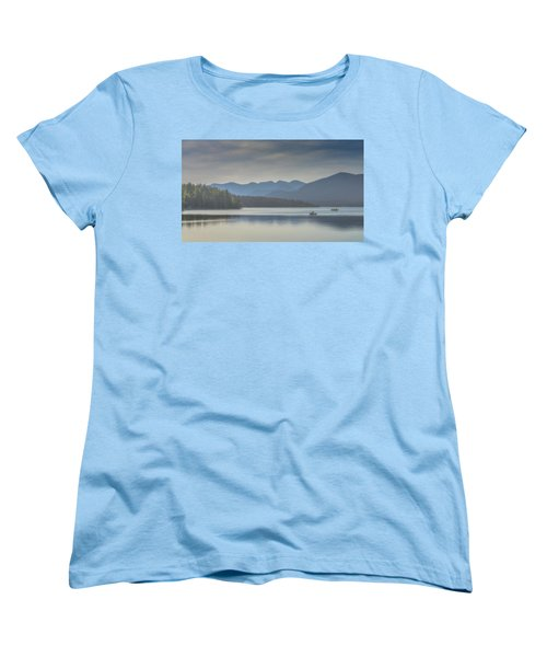 Women's T-Shirt (Standard Cut) featuring the photograph Sunday Morning Fishing by Chris Lord