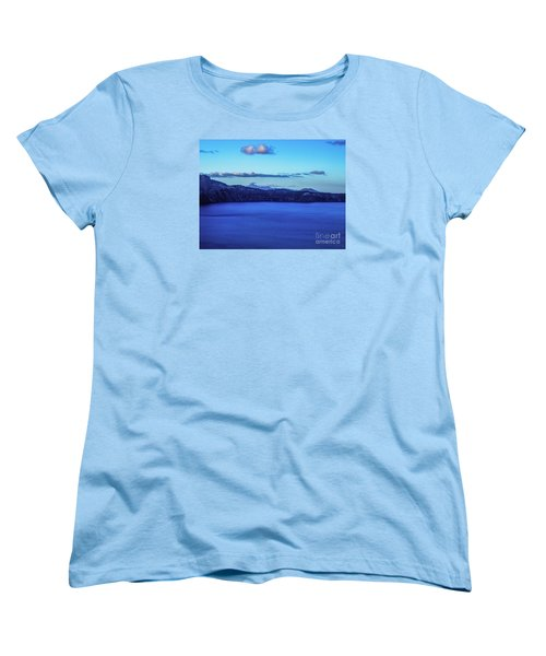 Sundown At Crater Lake Women's T-Shirt (Standard Cut) by Nancy Marie Ricketts