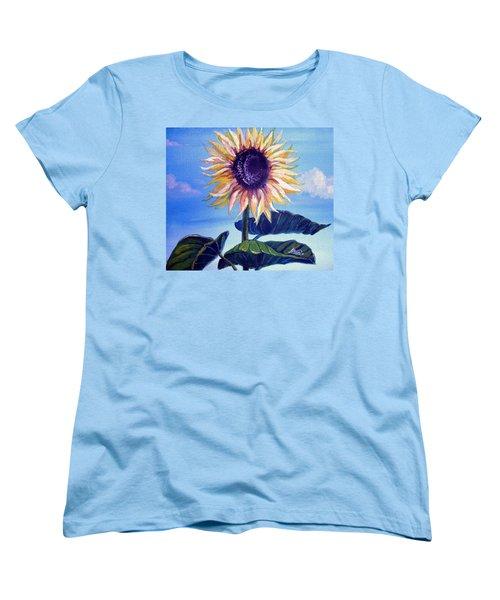 Sunflower Women's T-Shirt (Standard Cut) by Alban Dizdari