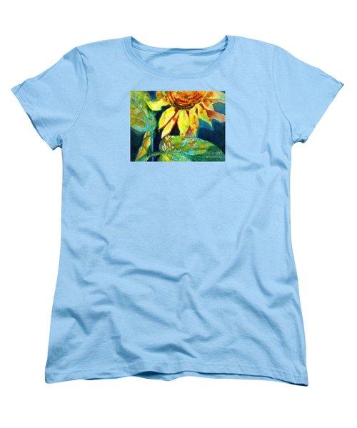 Sunflower Head 4 Women's T-Shirt (Standard Cut) by Kathy Braud