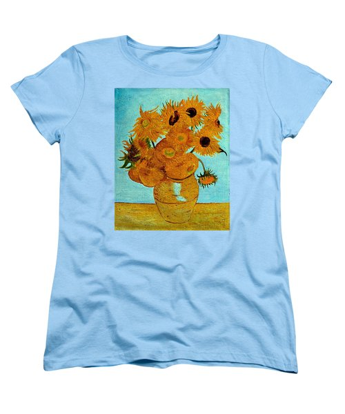 Sunflowers Women's T-Shirt (Standard Cut) by Henryk Gorecki