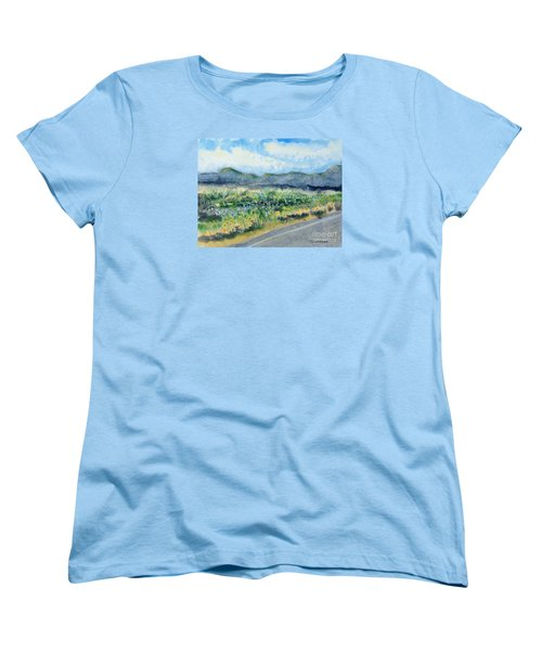 Sunflowers On The Way To The Great Sand Dunes Women's T-Shirt (Standard Cut)