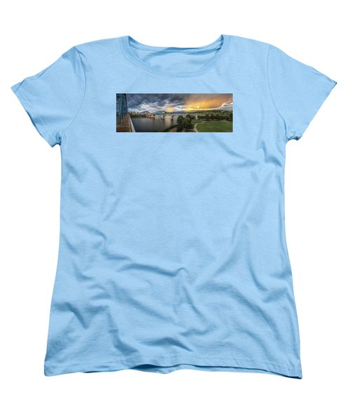 Sunlight And Showers Over Chattanooga Women's T-Shirt (Standard Cut) by Steven Llorca