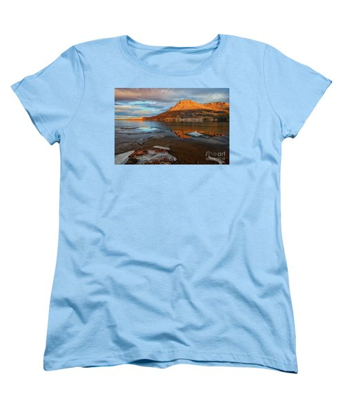 Sunlight On The Flatirons Reservoir Women's T-Shirt (Standard Cut) by Ronda Kimbrow