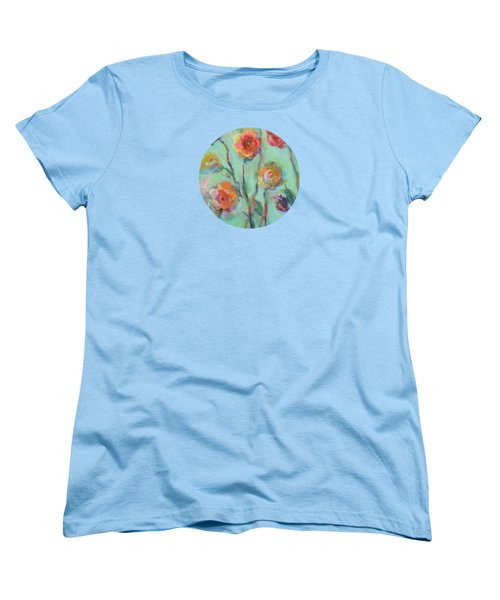 Women's T-Shirt (Standard Cut) featuring the painting Sunlit Garden by Mary Wolf