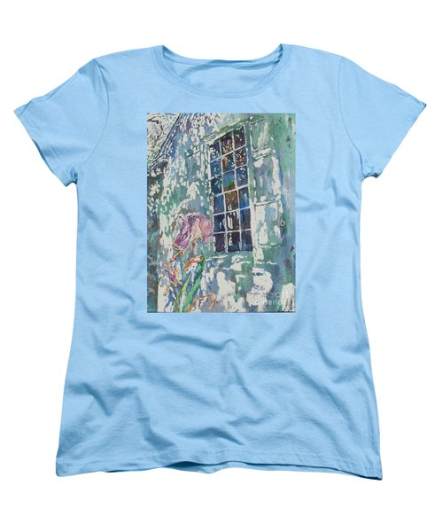 Women's T-Shirt (Standard Cut) featuring the painting Sunny Day At Brandywine by Mary Haley-Rocks