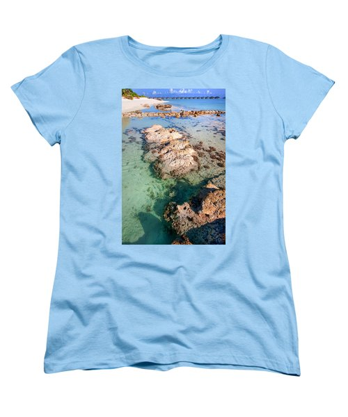 Women's T-Shirt (Standard Cut) featuring the photograph Sunny Day At Maldivian Resort by Jenny Rainbow
